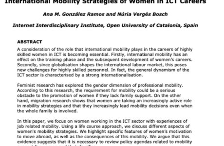 International Mobility of Women in ICT Careers