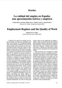 La calidad del empleo en España. Una aproximación teórica y empírica
