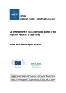 Co-enforcement in the construction sector of the region of Asturias