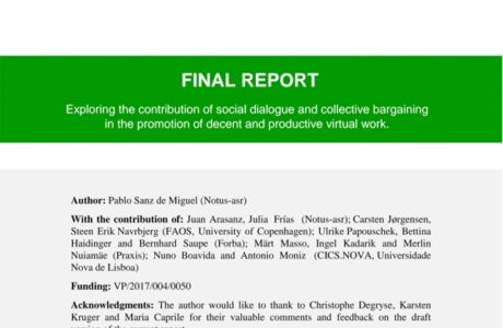 Exploring the contribution of social dialogue and collective bargaining in the promotion of decent and productive virtual work