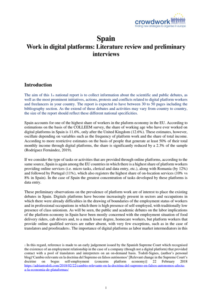 Spain Work in digital platforms_ Literature review and preliminary interviews
